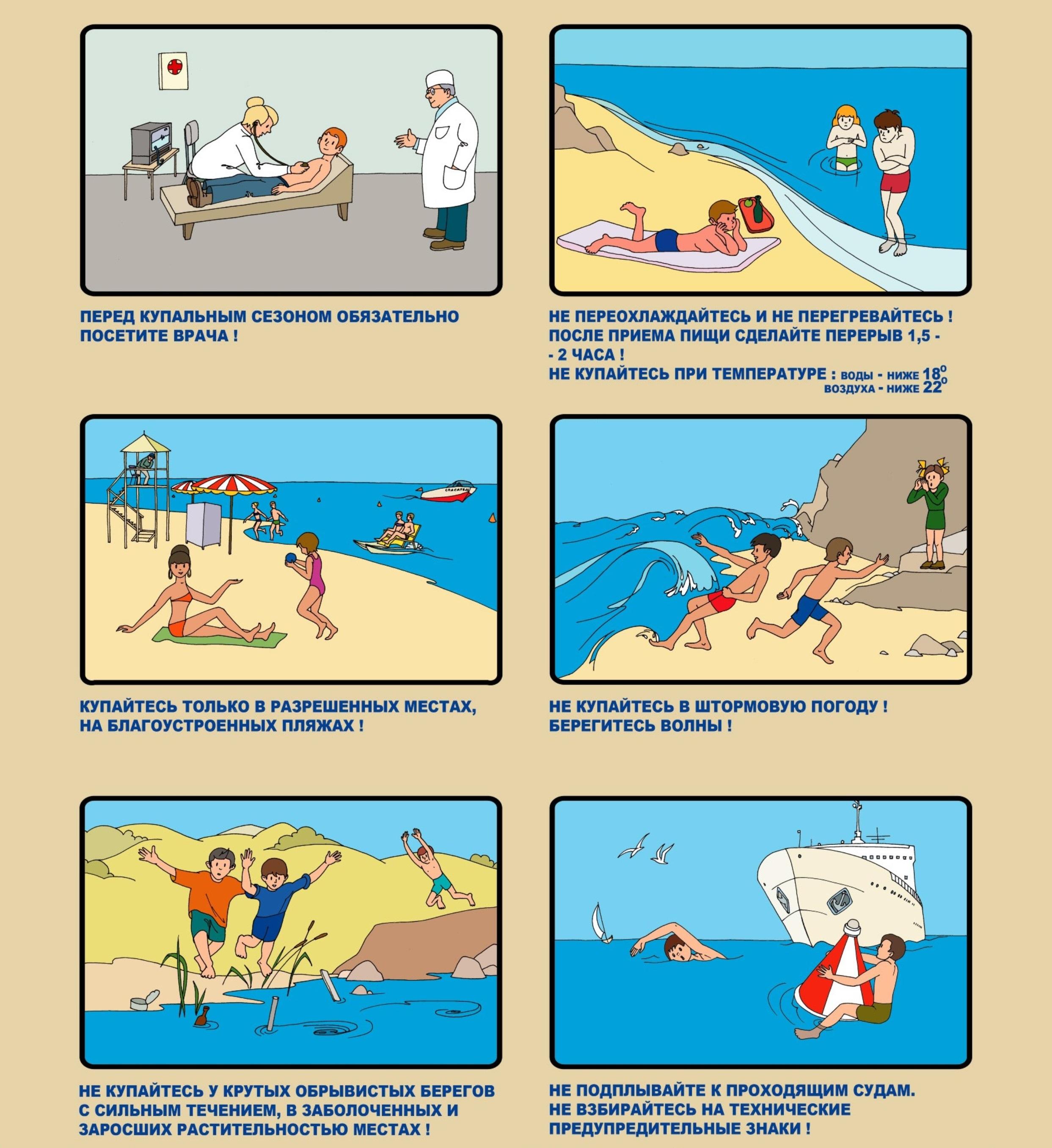 Безопасное Поведение На Водоёмах В Различных Условиях